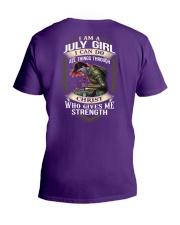 July Girl V-Neck T-Shirt thumbnail