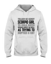 Scorpio Girl Hooded Sweatshirt thumbnail