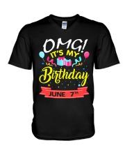 June 7th V-Neck T-Shirt thumbnail