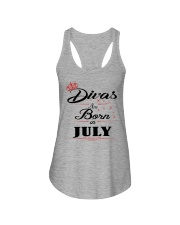 Divas Are Born In July Ladies Flowy Tank thumbnail