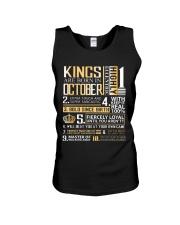 Kings Are Born In October  Unisex Tank thumbnail
