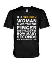 Spainish Woman V-Neck T-Shirt thumbnail