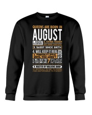 Queens Are Born In August  Crewneck Sweatshirt thumbnail