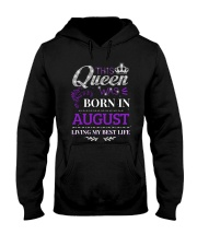 This Queen Was Born In August Hooded Sweatshirt thumbnail