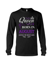 This Queen Was Born In August Long Sleeve Tee thumbnail