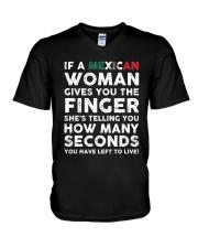 Mexican Woman V-Neck T-Shirt thumbnail