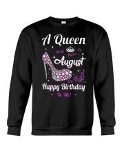 A Queen Was Born In August Crewneck Sweatshirt thumbnail