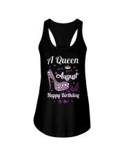 A Queen Was Born In August Ladies Flowy Tank thumbnail