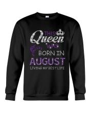 This Queen Was Born In August Crewneck Sweatshirt thumbnail