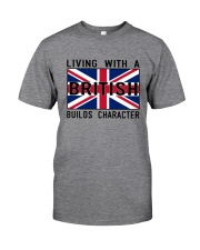 Living With A British Classic T-Shirt front