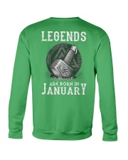 Legends Are Born In January Crewneck Sweatshirt thumbnail