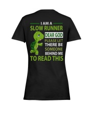 Special Edition- SLOW RUNNER Ladies T-Shirt women-premium-crewneck-shirt-back