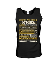 Legends Are Born In October Unisex Tank thumbnail