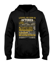 Legends Are Born In October Hooded Sweatshirt tile
