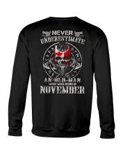 Never Underestimate An Old Man Crewneck Sweatshirt thumbnail