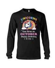 Unicorns Are Born In October Long Sleeve Tee thumbnail