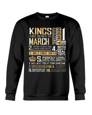 Kings Are Born In March  Crewneck Sweatshirt thumbnail