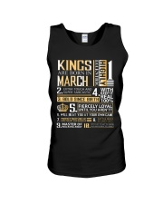 Kings Are Born In March  Unisex Tank tile