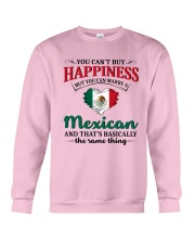 You Can't Buy Happiness Mexican Crewneck Sweatshirt thumbnail
