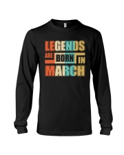 Legends Are Born In March Long Sleeve Tee thumbnail