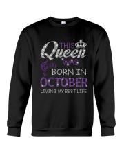 This Queen Was Born In October Crewneck Sweatshirt thumbnail