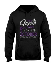 This Queen Was Born In October Hooded Sweatshirt thumbnail