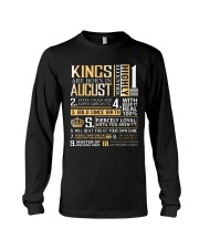 Kings Are Born In August  Long Sleeve Tee thumbnail