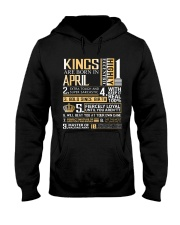 Kings Are Born In April  Hooded Sweatshirt thumbnail