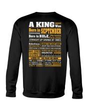 A King Was Born In September Crewneck Sweatshirt thumbnail