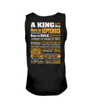 A King Was Born In September Unisex Tank thumbnail
