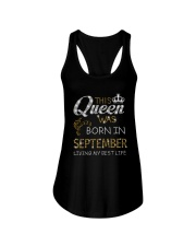 This Queen Was Born In September Ladies Flowy Tank thumbnail