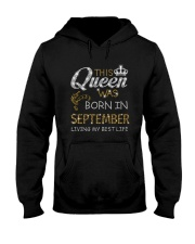 This Queen Was Born In September Hooded Sweatshirt thumbnail