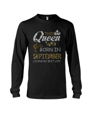 This Queen Was Born In September Long Sleeve Tee thumbnail