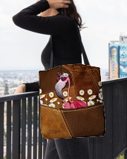 Flamingo - Daisy Patchwork All-over Tote aos-all-over-tote-lifestyle-front-05