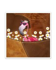 Flamingo - Daisy Patchwork Sticker - Single (Vertical) thumbnail