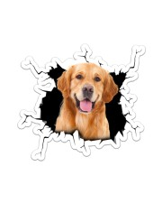 Golden Retriever Crack Sticker - Single (Vertical) front