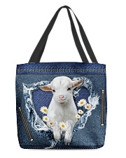 Goat Daisy Jean For Goat Lovers Tote Bag All-over Tote back