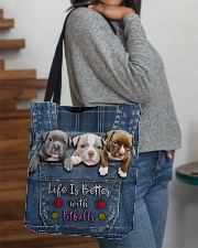 Pitbull Life Is Better Tote Bag  All-over Tote aos-all-over-tote-lifestyle-front-09