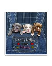 Pitbull Life Is Better Tote Bag  Sticker - Single (Vertical) thumbnail