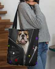 England Bulldog - Zip - All - Tote All-over Tote aos-all-over-tote-lifestyle-front-09