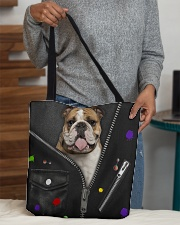 England Bulldog - Zip - All - Tote All-over Tote aos-all-over-tote-lifestyle-front-10