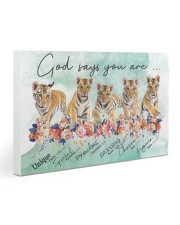 Tiger - God Says You Are 30x20 Gallery Wrapped Canvas Prints thumbnail