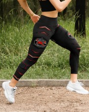 Firefighter Red Pattern Legging High Waist Leggings aos-high-waist-leggings-lifestyle-14