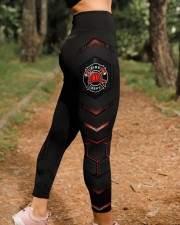Firefighter Red Pattern Legging High Waist Leggings aos-high-waist-leggings-lifestyle-21