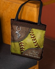 Softball Letaher Pattern TOte Bag All-over Tote aos-all-over-tote-lifestyle-front-02