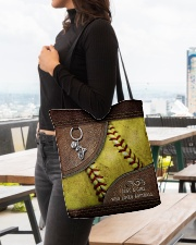 Softball Letaher Pattern TOte Bag All-over Tote aos-all-over-tote-lifestyle-front-04