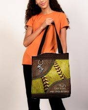 Softball Letaher Pattern TOte Bag All-over Tote aos-all-over-tote-lifestyle-front-06