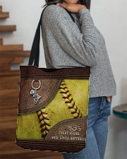 Softball Letaher Pattern TOte Bag All-over Tote aos-all-over-tote-lifestyle-front-09