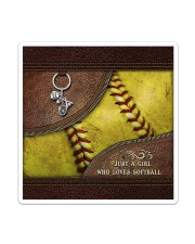 Softball Letaher Pattern TOte Bag Sticker - Single (Vertical) thumbnail