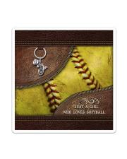 Softball Letaher Pattern TOte Bag Sticker tile